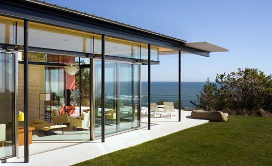 Luxury Beach Slidding Glass Wall House