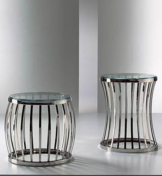 Modern Glass and Stone Cavea Tables Home Furniture