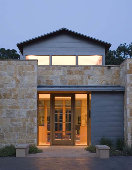 contemporay stone home design traditional