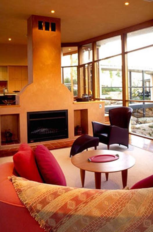 curved pavilion home design living room