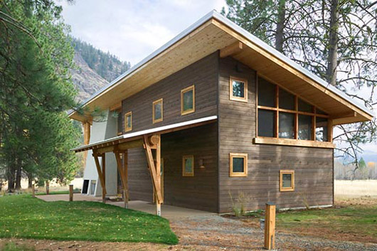 Regular wooden house design modern home exteriors for Small house design made of wood