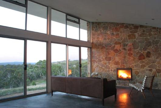 glass house design interior living room