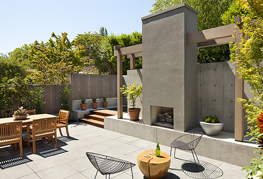 Modern Courtyard Decorating Home Exterior Design Ideas