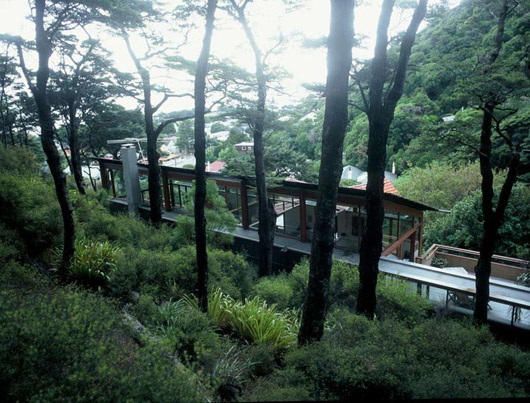 Modern Platform House Design Architecture With Large Glass Windows