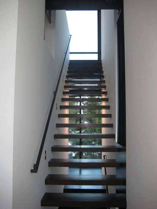residential design interior decorating wooden stairs