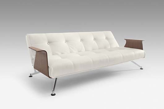 Modern Sofa Bed Design Furniture With Walnut Arms