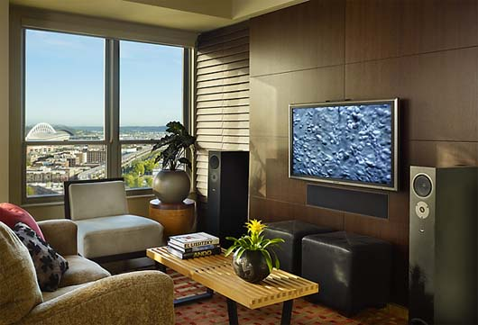 modern family room design interior condominium