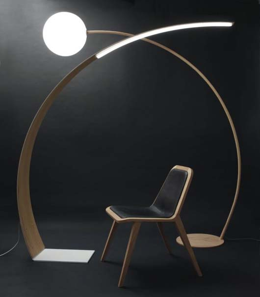 The modern floor lamp designed by Johan Lindsten, created with ...