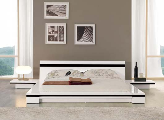 Contemporary Platform Bed Design Furniture With Low And Sleek Form