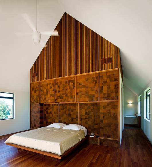 master bedroom design with wooden floors