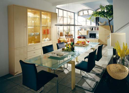 modern dining room decorating home interior