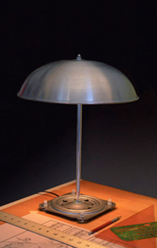 unique lamp design recycled steels material