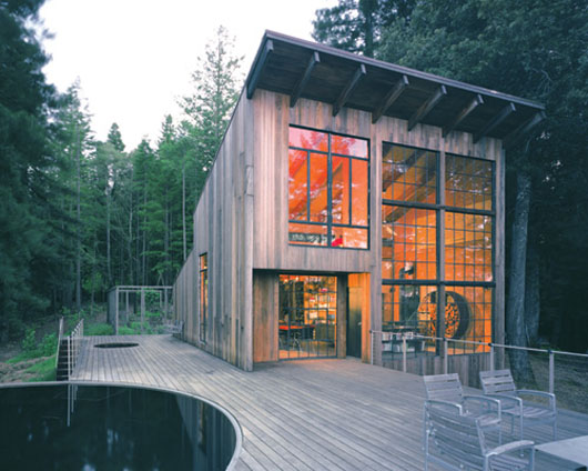 home design with cabin reclaimed material