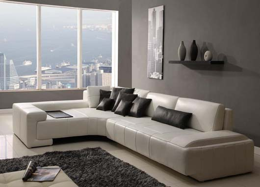 Contemporary Leather Sofa Design Modern Living Room Furnishing
