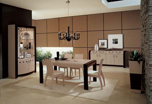 modern dining room home gallery design