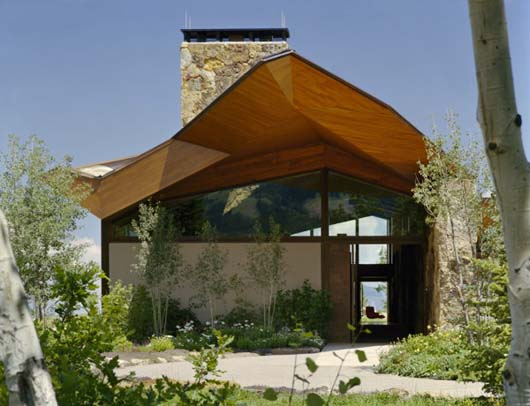 Contemporary Mountain Cabin Design Stone And Glass Architecture
