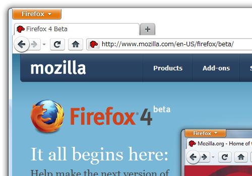 Firefox4betaをインストール