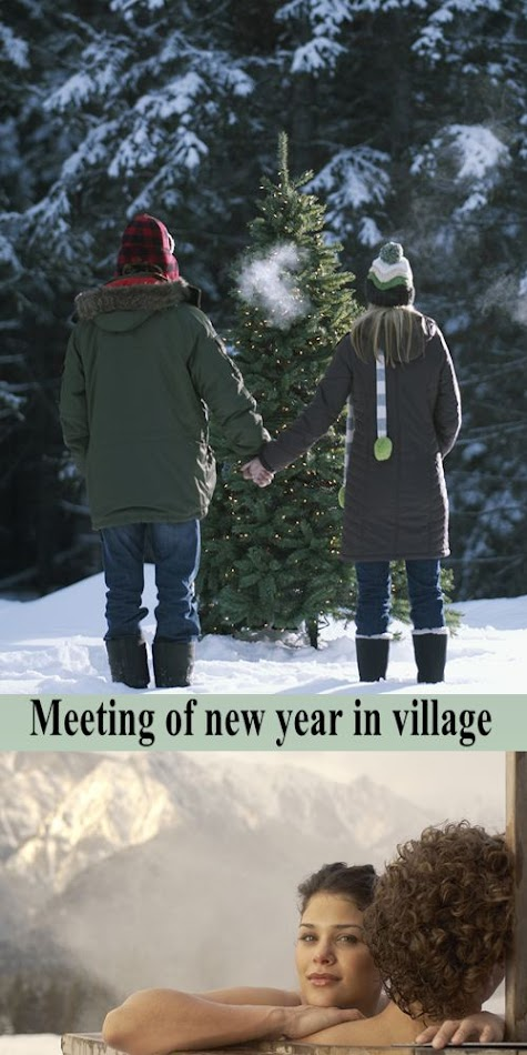 Stock Photo: Meeting of new year in village 21
