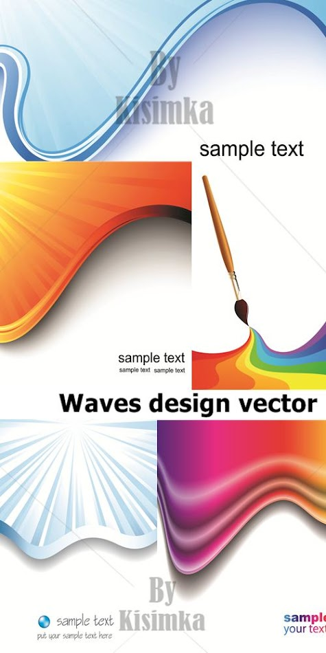 Stock Photo: Waves design vector