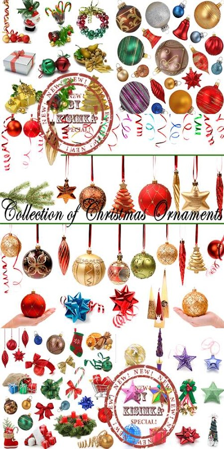 Stock Photo: Collection of Christmas Ornaments
