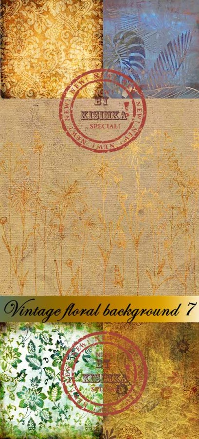 Stock Photo: Vintage floral background 7