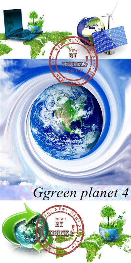 Stock Photo: Green planet 4