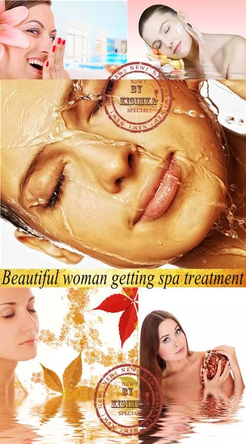 Stock Photo: Beautiful woman getting spa treatment