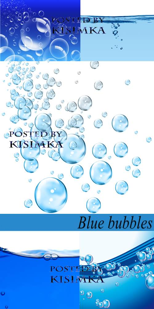 Stock Photo: Blue bubbles