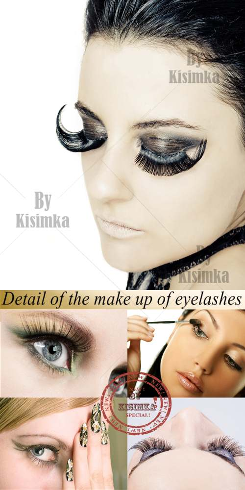 Stock Photo: Detail of the make up of eyelashes