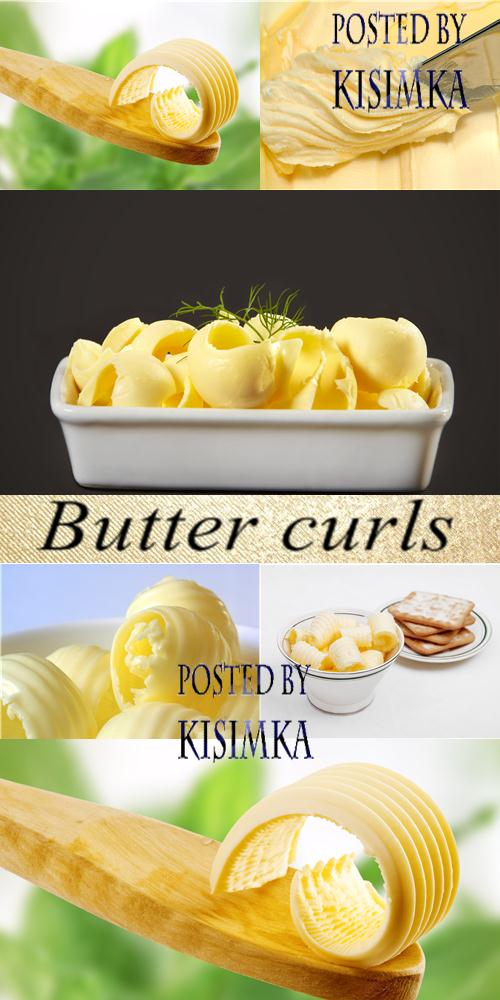 Stock Photo: Butter curls