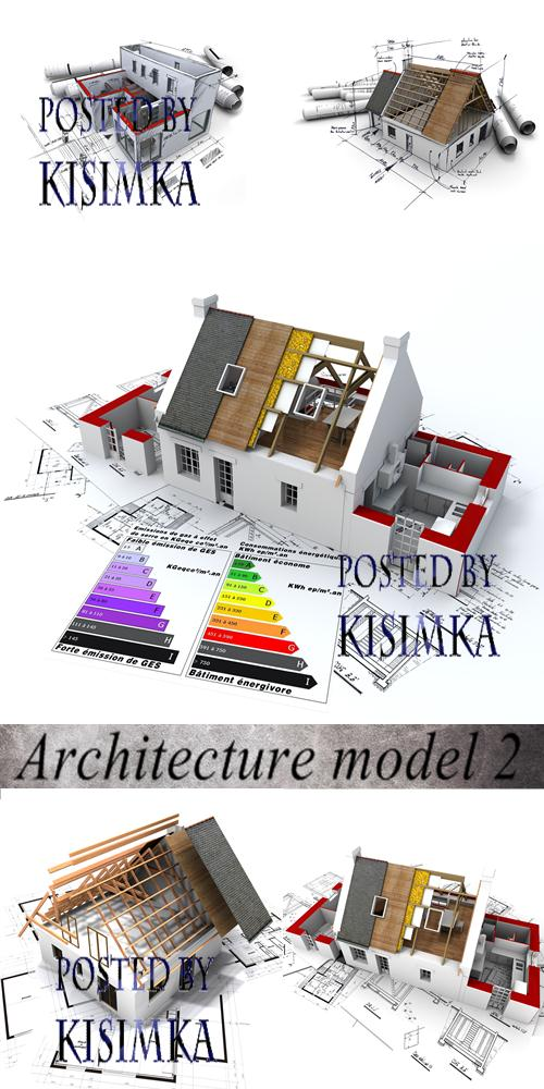 Stock Photo: Architecture model 2