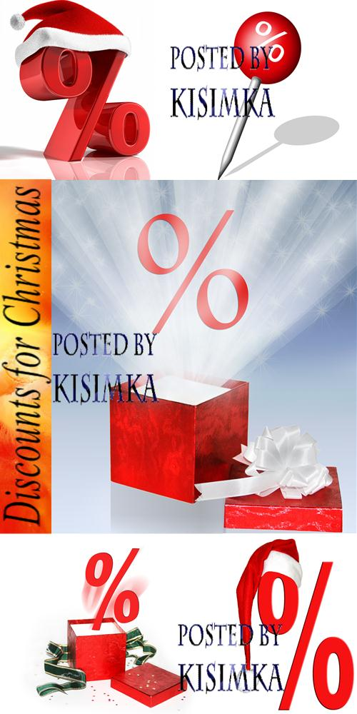 Stock Photo: Discounts for Christmas