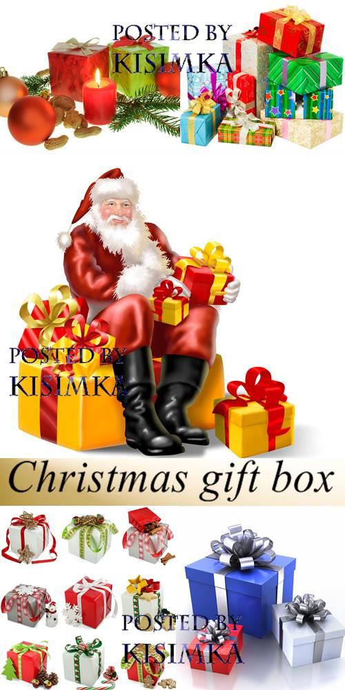 Stock Photo: Christmas gift box