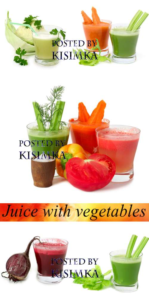 Stock Photo: Juice with vegetables