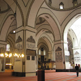interior, view across the aisles, minbar just visible center left