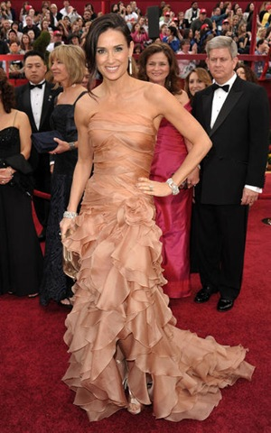 Actress Demi Moore arrives at the 82nd Annual Academy Awards hel