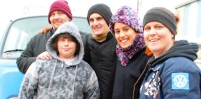 Robb y familia