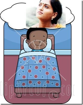 94621-Royalty-Free-RF-Clipart-Illustration-Of-A-Little-Black-Boy-Dreaming-And-Sleeping-In-Bed