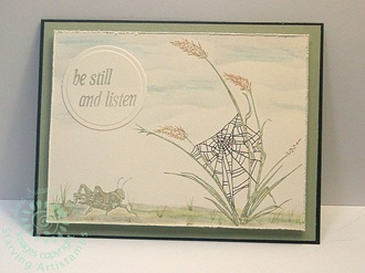 Be Still and Listen-grassshopper