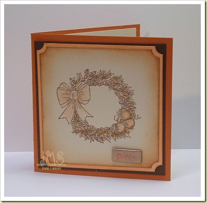 TLC196--Wreath gift card holder front