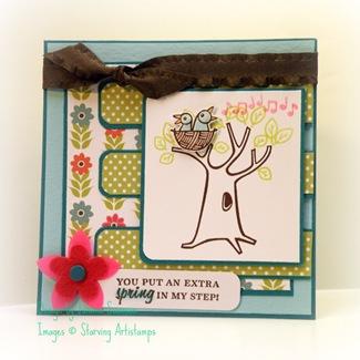 Spring Birds and Tree