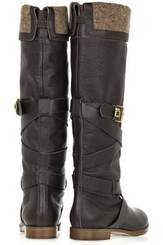 chloè - Wool-lined leather boots - 795