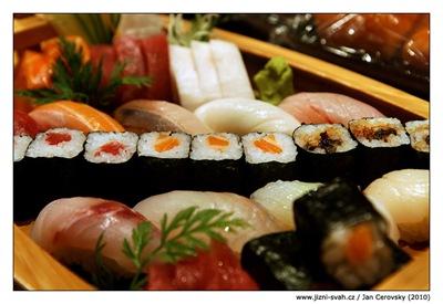 Hanabi Hibachi velký degustační set suši