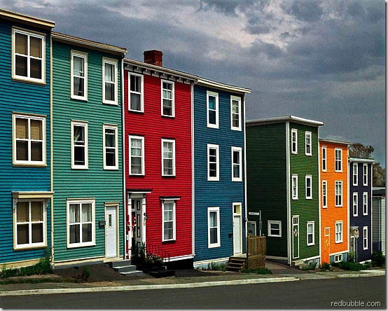 colourful houses redbubble 2