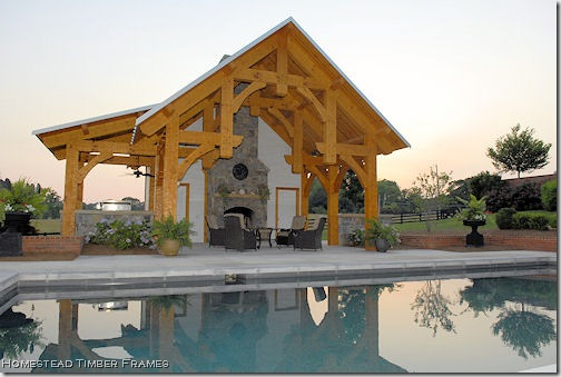 pool house homestead timberframes