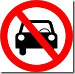 no driving