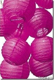 pink lanterns