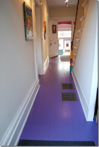 purple floor