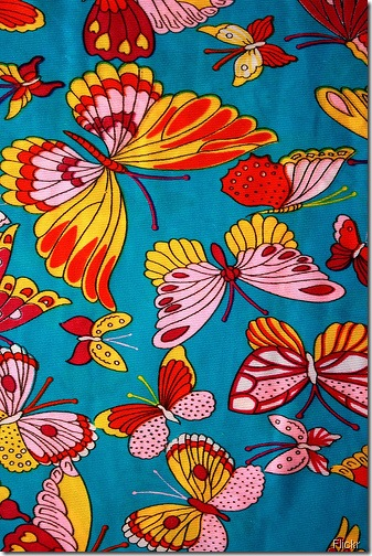 butterfly fabric flickr
