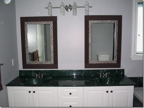 vanity before with new mirrors